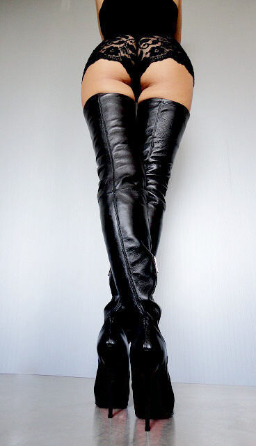 CQ COUTURE NEUF BOTTES OVERKNEE STIEFEL BOTTES STRETCH STRETCH STRETCH VÉRITABLE LEATHER BLACK 1cf064