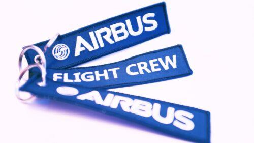 Airbus Flight Crew KeyringBlue