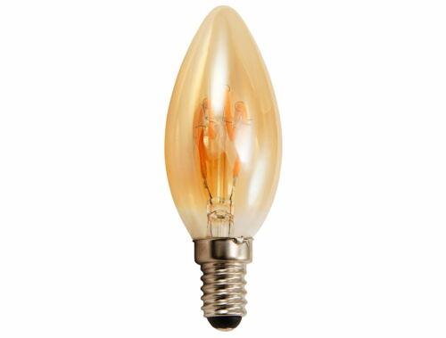 Blanc Chaud 2200k DEL Vintage Retro filament bougie Edison Amber Antik e14 360 °
