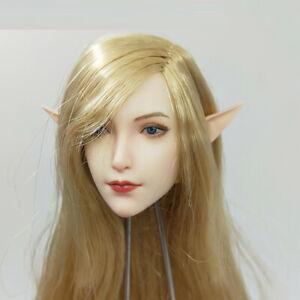 """SUPER DUCK SET043 1/6 Fairy Elf Head Sculpt Carved Model fit 12"""" Action Figure"""