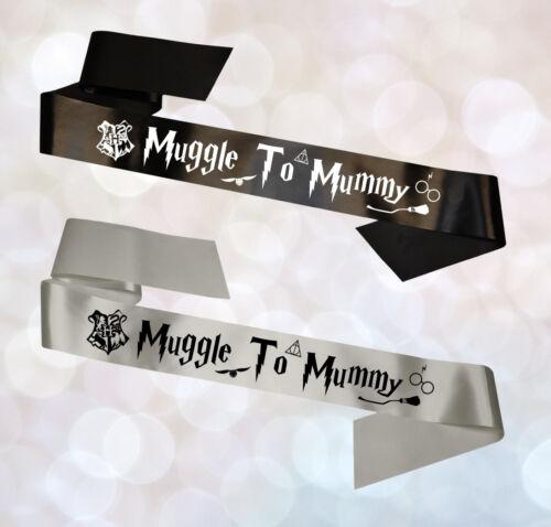 Personalised Hogwarts Harry Potter Mum To Be Baby Shower Rhinestone Satin Sash
