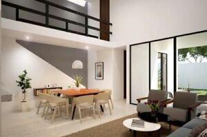 Casa en venta de dos pisos con alberca en Privada Zendera en Conkal