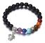 7-Chakra-Bracelet-Lava-Healing-Stones-Beaded-Gemstones-Beads-Elastic-Yoga thumbnail 14