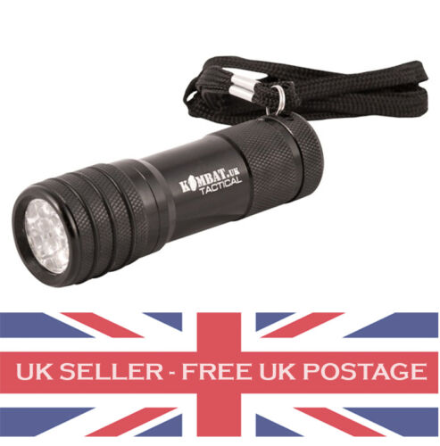 9 LED Tactical Torch. Camping Cadets Military Festival. BATTERIES INCLUDED!