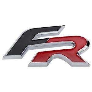 Seat-FR-Formula-Racing-Schriftzug-Logo-Emblem-Rot-Schwarz-Chrom-badge-Leon-Ibiza