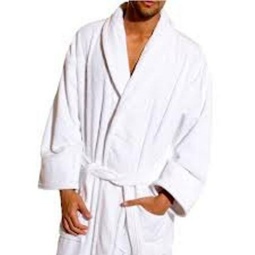 WHITE HOTEL QUALITY LUXURY EGYPTIAN COTTON TERRY VELOUR BATHROBE DRESSING GOWN