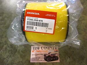 genuine honda air filter element trx350 trx400 rancher. Black Bedroom Furniture Sets. Home Design Ideas