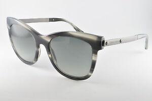 7b691c53d1394 Giorgio Armani AR 8011 520011 Striped Grey Womens Cat Eye Sunglasses ...