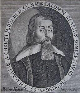 SALOMON GLASSIUS, Solomon Glassius (Salomon Glassius, (1593 - 1656) théologien l - France - Une fois l'objet reu, contactez le vendeur dans un délai de Frais de retour 14 derniers jours Acheteur - France