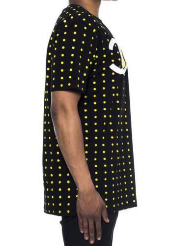 "Hudson Outerwear /""PACC/"" Black Short Sleeve Polka Dot Detail men/'s Tee Shirt"