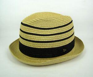 2777cba2b82 New Era Men s Original EK Collection Paper Straw Fedora Trilby Hat ...