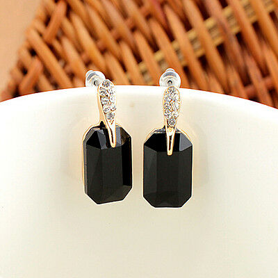 Hot Fashion 18k Gold Plated Crystal Rhinestone Dangle Ear Stud Gift Party Gift