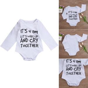 AU-HOT-Newborn-Baby-Boy-Girl-Long-Sleeve-Romper-Jumpsuit-Bodysuit-Cotton-Outfits