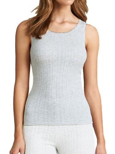 Ladies M/&S Thermal Lace Trim Built up shoulder BRUSHED INSIDE Vest Top//Camisole