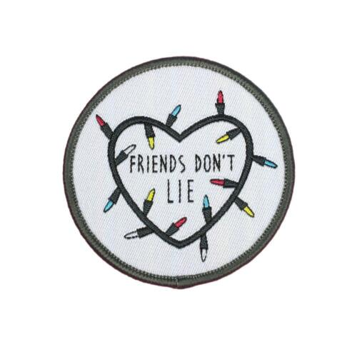 "Stranger Things Friends Don/'t Lie Patch 2 1//2/"" Free Shipping by Envelope Mail"