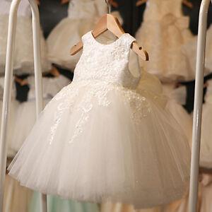 Lace Flower Girl Kid Baby Wedding Bridesmaid Princess Pageant Formal ... 6f57c3f64adf