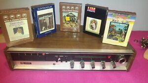VINTAGE-milovac-AM-FM-Stereo-Ricevitore-Con-8-Track-Tape-Player-modello-RA-1150