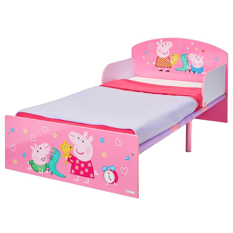 Peppa Pig bébé lit avec panneaux latéraux Junior Chambre à Coucher Enfants Filles Rose