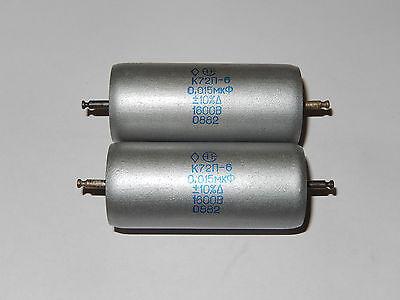 //-10/% 1600V AUDIO teflon capacitors K72P-6 NOS. 5x 6800pF