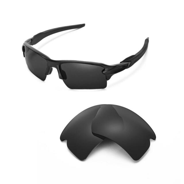 c7970bd8d1 Walleva Black Polarized Replacement Lenses for Oakley Flak 2.0 XL ...