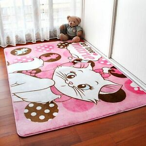 cartoon bedroom rugs yoga carpet children 39 s cute room crawling carpet pink cat ebay
