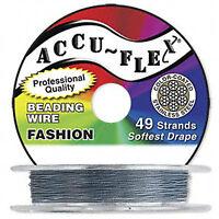 30' .024 Clear Accuflex 49 Str Beading Wire Accu-flex