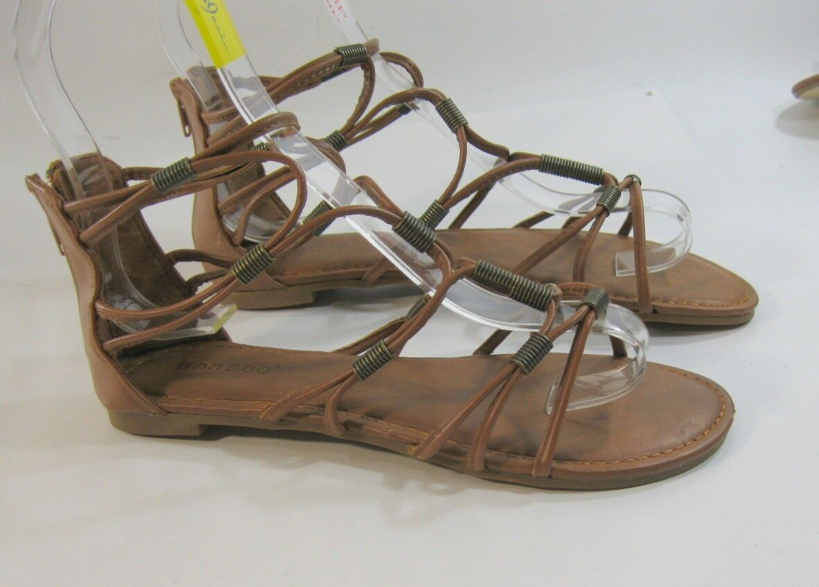 Summer Tan Womens Shoes Size Roman Gladiator Sexy Sandal Size Shoes 7 e855be