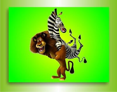 Keilrahmenbild Poster Leinwandbild Madagascar Film  Bild auf Leinwand Wandbild