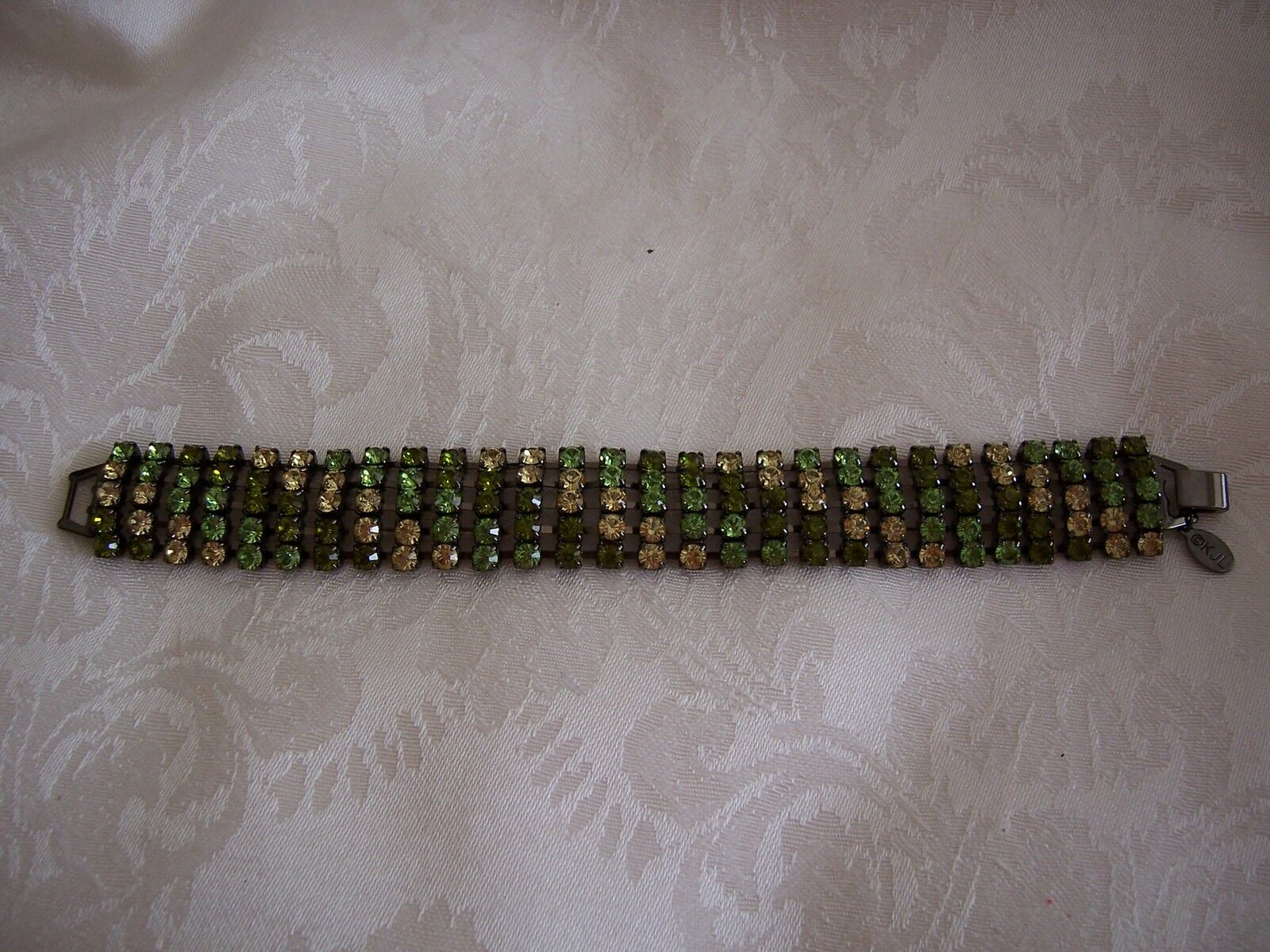 Kenneth J. Lane colors Of Green Crystal Ombre Bracelet
