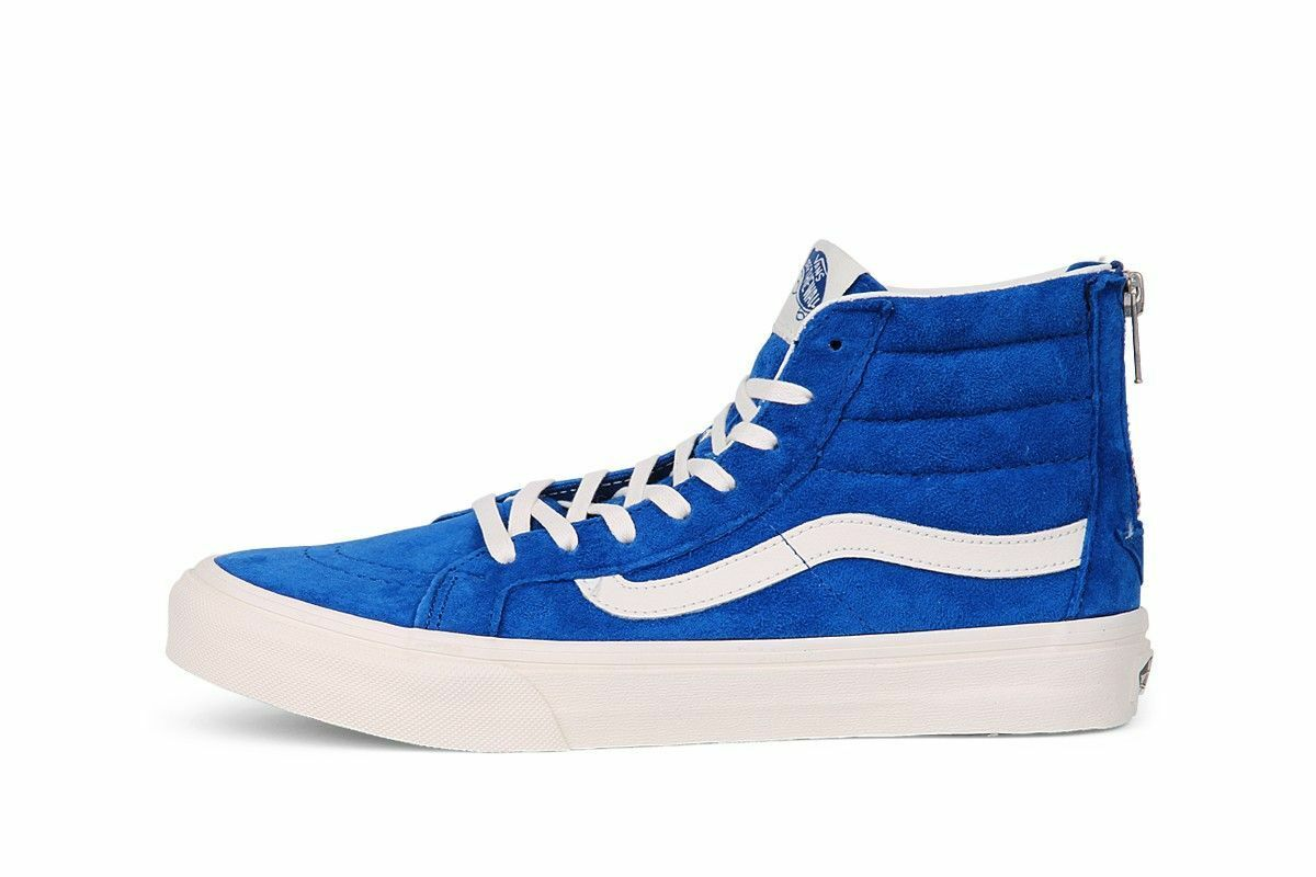 Vans SK8- Hi Slim Zip Women shoes Canvas Scotchgard  Size 8.5 9 bluee 0XH8GZX