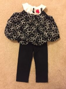 Rare-Editions-Baby-Girls-2-Pc-Sleeveless-Dress-with-Pants-Black-12-months