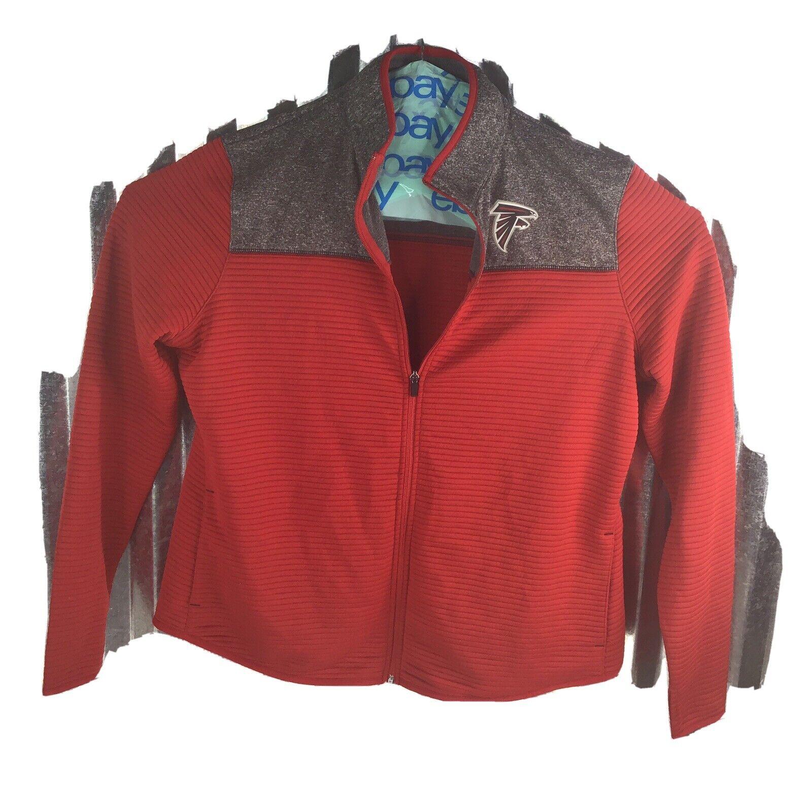 Team Apparel NFL TX3 Warm Up Jacket Atlanta Falcons Red Grey Women's Size XXL