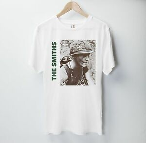 Amical The Smiths T Shirt Top Anglais Rock Band Meat Is Murder 1985 Morrissey Marr-afficher Le Titre D'origine