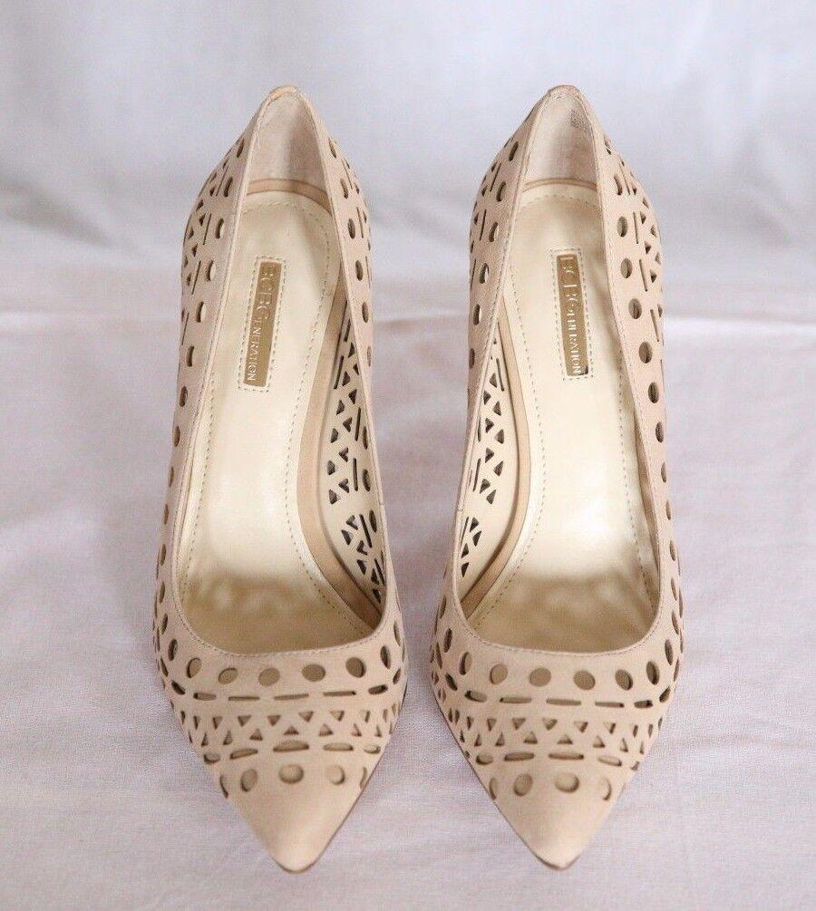 perfezionare BCBG BCBG BCBG perforated suede pointed toe scarpe 8 8.5 nude  vendita calda