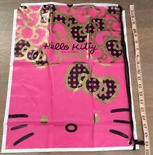 Hello Kitty Large Drawstring Shoulder Plastic Bag Storage Beach Laundry Fuchsia