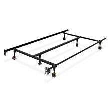 BCP Adjustable Metal Bed Frame w/ Locking Wheels