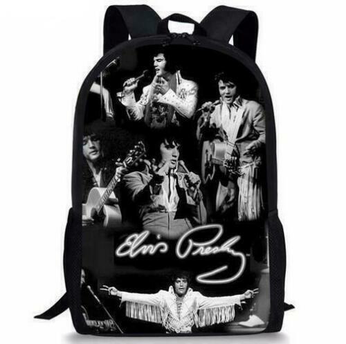 New Elvis Presley Vegeta Son Girls Boys School Backpack Kids Gift Book Bag