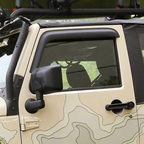 Rugged Ridge Window Visor Matte Black 07-17 For Jeep 2-Door Wrangler  X11349.11