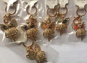 Fairy-Angel-Gem-Crystal-Rhinestone-Keyring-Charm-Purse-Bag-Key-Ring-Chain-XMAS