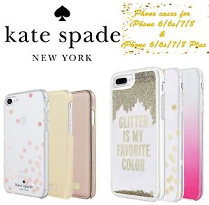 Kate-Spade-Nueva-York-Disenador-Cases-Covers-iPhone-X-8-7-6s-6-libre-de-Reino-Unido-P-amp-p-Plus