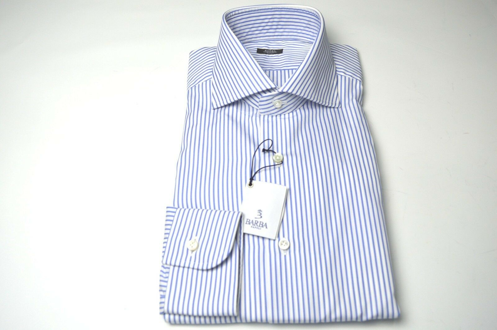 NEW BARBA  Dress SHIRT  100% Cotton Size 16.5  Us 42 Eu  (BA13)