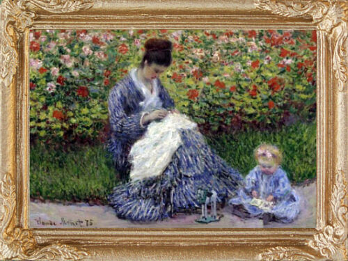 Monet MOTHER /& CHILD Dollhouse Art Picture FAST DELIVERY MADE IN AMERICA