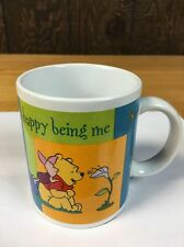 Winnie the Pooh VINTAGE DISNEY Happy Being Me w/ Piglet Coffee cup Tea Retired