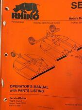 Rhino Se6 Rotary Mower Manual 00768614