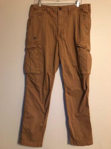 NWT AMERICAN EAGLE Next Level Flex Original Taper Cargo Pants 34x34 34x36 Tan