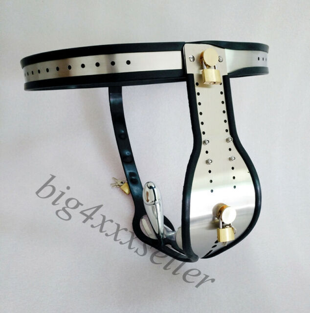 Male Stainless Steel Adjustable Chastity Belt Device Thong Pants Chastity Cag