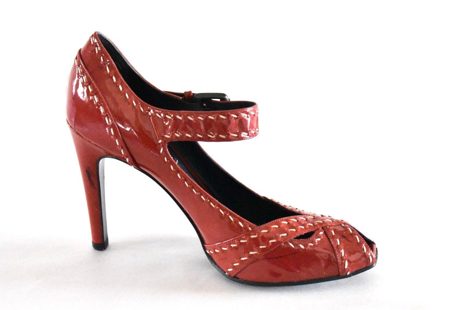 nuovo stile Bottega Bottega Bottega Veneta Patent Leather Mary Jane Peep Toe Pumps 38 - Made In ITALY  fino al 60% di sconto