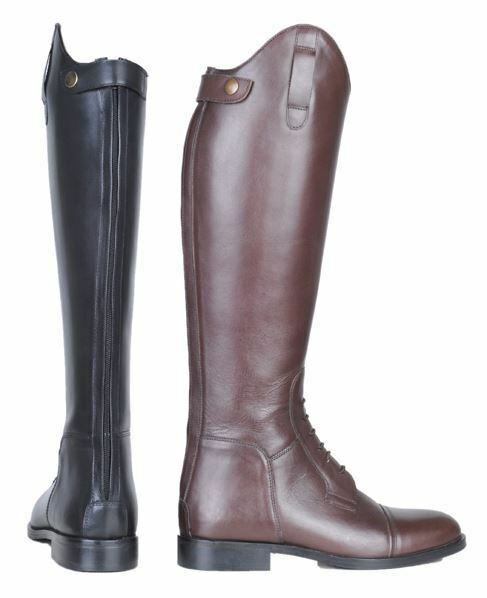 HKM Equestrian Ladies  Spain Soft Leather Short Wide Slim Fit Horse Riding Boots  factory outlet