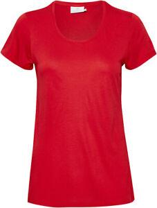 KAFFE-10501194-Bluse-T-SHIRT-HIGH-RISK-RED-38-M