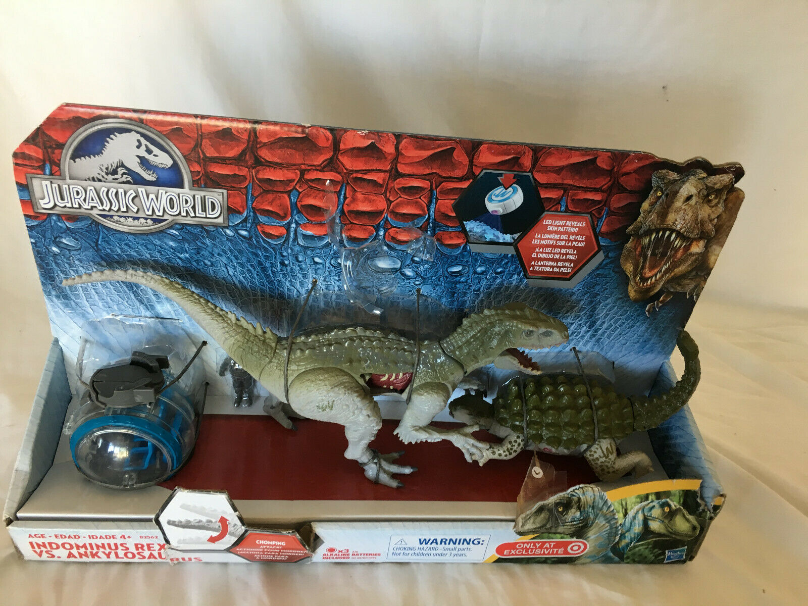 Jurassic World Hasbro Hasbro Hasbro Indominus Rex Vs Ankylosaurus cifra Set Missing LED LIGHT c907cb